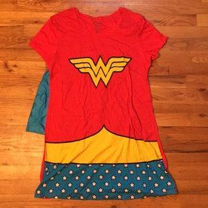 Dresses - Wonder Woman Dress/ Nightgown with detachable cape